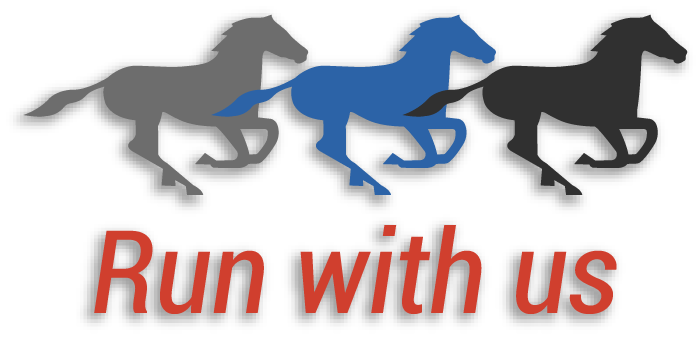 Run with us logo